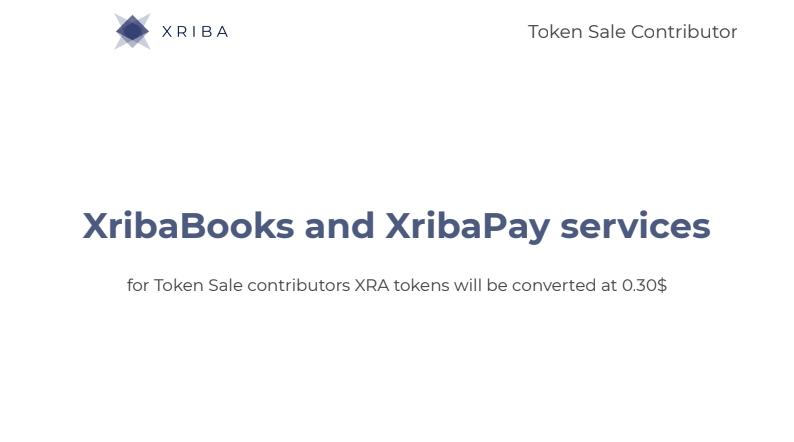 XribaBooks and xribaPay service
