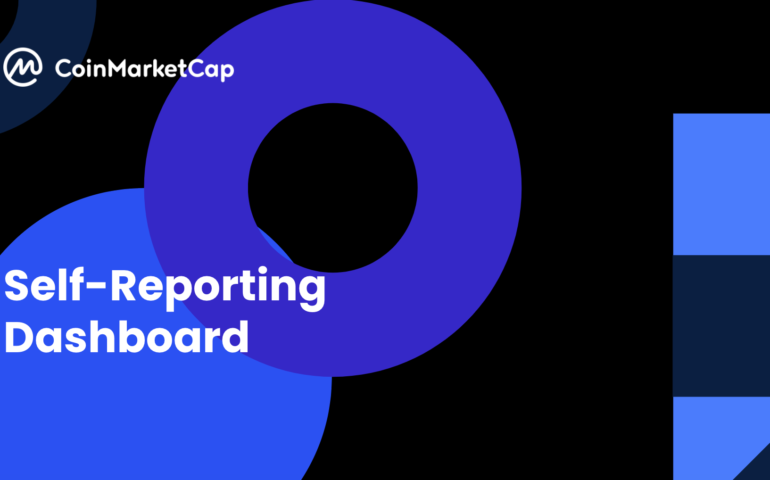 CoinMarketCap Self Reporting Dashboard